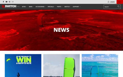 Screenshot of Press Page switchkites.com - News - Switch Kiteboarding US - captured Nov. 7, 2018