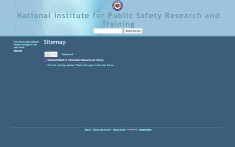 Screenshot of Site Map Page nipsrt.org - Sitemap - National Institute for Public Safety Research and Training - captured Oct. 7, 2014