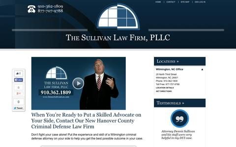 Screenshot of Contact Page Locations Page dennissullivanlaw.com - Contact a New Hanover County Criminal Defense Attorney | The Sullivan Law Firm, PLLC - captured Oct. 26, 2014