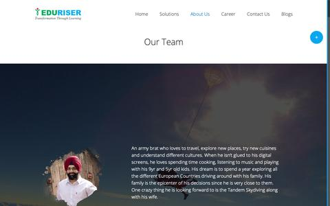 Screenshot of Team Page eduriser.com - About EduRiser - Training to improve productivity and performance of employees - captured Sept. 27, 2018