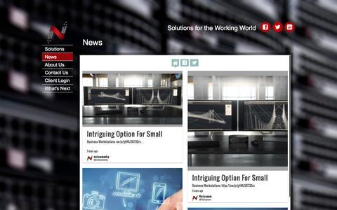 Screenshot of Press Page netcomm.com - Netcomm  | News - captured Dec. 18, 2016