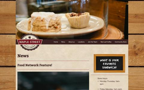 Screenshot of Home Page maplestreetbiscuits.com - Maple Street Biscuit Company - captured Feb. 12, 2016