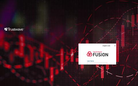 Screenshot of Login Page trustwave.com - Trustwave Fusion - captured Sept. 9, 2019