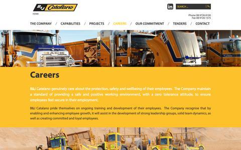 Screenshot of Jobs Page catalano.com.au - Careers - B&J Catalano - captured Dec. 13, 2018