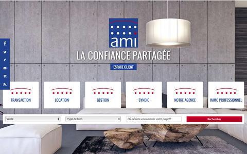 Screenshot of Home Page agence-ami.com - Immobilier Niort | Agence Ami Niort - captured Oct. 19, 2018