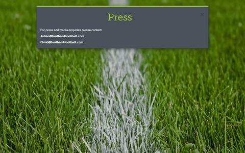 Screenshot of Press Page football4football.com - football4football - captured Sept. 30, 2014