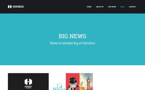 Screenshot of Blog heroboxstudios.com - Blog | Herobox Studios - captured Sept. 30, 2014