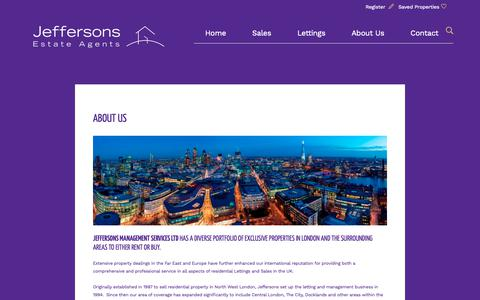 Screenshot of About Page jeffersons.uk.net - Estate Agents in N20 | Residential Sales and Letting Agents | Jeffersons Management Services - captured Oct. 13, 2018