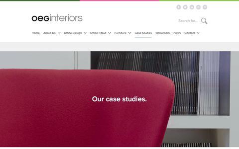 Screenshot of Case Studies Page oeginteriors.co.uk - OEG Interiors - Case Studies | Office Design | Office Furniture - captured Oct. 19, 2017
