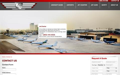 Screenshot of Contact Page usjetways.com - Us-jetways - Contact Us - captured Sept. 30, 2014