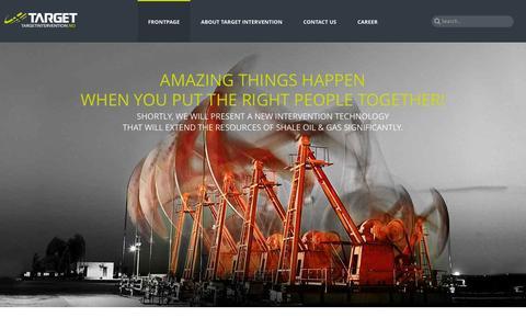 Screenshot of Home Page targetintervention.no - Target Intervention - captured Sept. 30, 2014