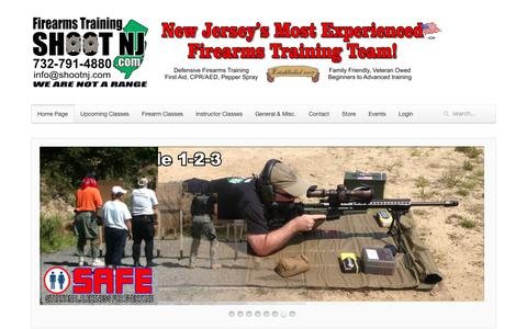 Screenshot of About Page shootnj.com - About Us - SHOOT NJ Firearms Training - captured Oct. 18, 2018