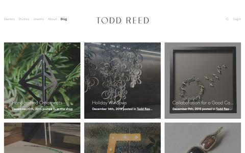 Screenshot of Blog toddreed.com - Blog – Todd Reed – Raw Elegance - captured Dec. 17, 2015