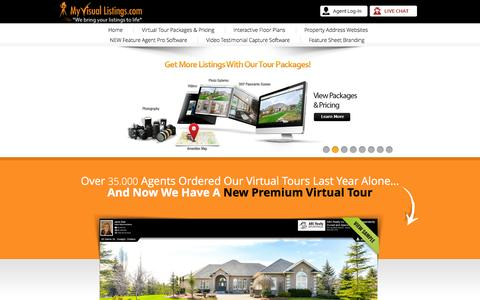 Screenshot of Home Page myvisuallistings.com - My Visual Listings - Real Estate Virtual Tours - captured Oct. 14, 2015