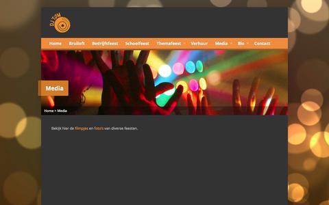 Screenshot of Press Page djtomdongen.nl - Media - DJ Tom - captured Oct. 5, 2014