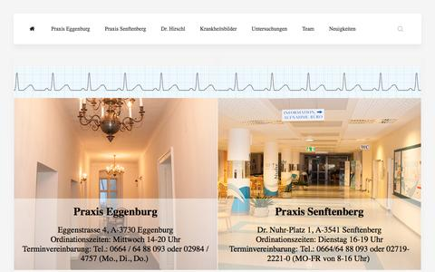 Screenshot of Home Page kardiologie-hirschl.at - Univ. Prof. Dr. Hirschl | Kardiologie | Kardiologe - captured June 8, 2016
