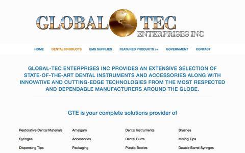 Screenshot of Products Page global-tecinc.com - Products • Global-Tec Enterprises Inc - captured Jan. 30, 2018