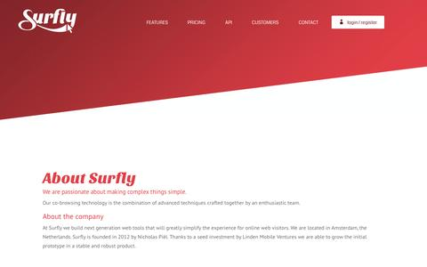 Screenshot of About Page surfly.com - About | Surfly - captured Nov. 21, 2015