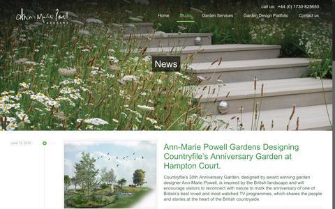 Screenshot of Press Page ann-mariepowell.com - Ann-Marie Powell Gardens gardening blog, garden design news, garden ideas and updates - captured Nov. 12, 2018