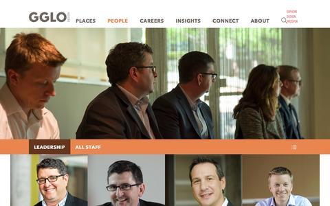 Screenshot of Team Page gglo.com - People - GGLO - captured Dec. 6, 2015