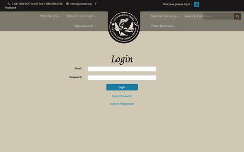 Screenshot of Login Page ctclusi.org - CTCLUSI - captured Nov. 10, 2016