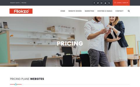Screenshot of Pricing Page flickzo.com - Pricing - Flickzo - captured June 6, 2017