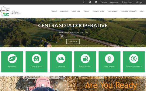 Screenshot of Home Page centrasota.com - Home - Centra Sota Coop - captured Sept. 29, 2018
