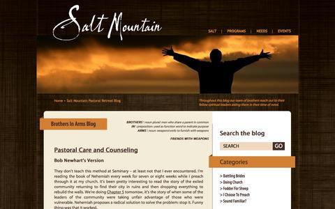Screenshot of Blog saltmountain.org - Salt Mountain Pastoral Retreat - captured Oct. 3, 2014