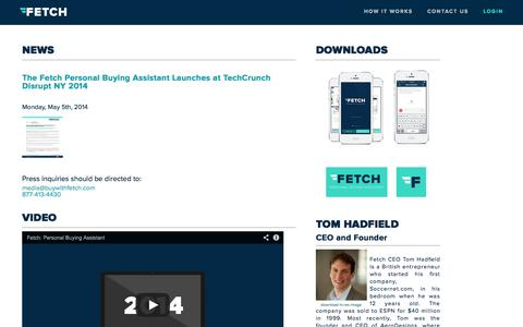 Screenshot of Press Page buywithfetch.com - Fetch - Press - captured Sept. 12, 2014