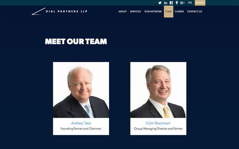 Screenshot of Team Page dialpartnersllp.com - Meet Our Team - captured June 4, 2017