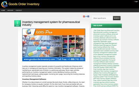Screenshot of Blog goodsorderinventory.com - Goods Order Inventory | Goods Order Inventory Blog - captured Oct. 6, 2014