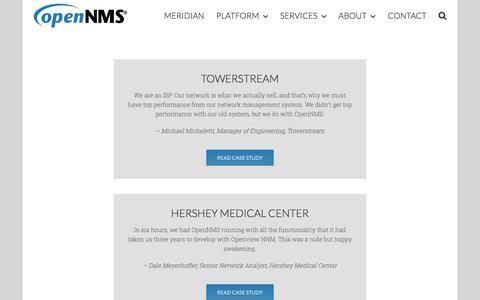 Screenshot of Testimonials Page opennms.com - Testimonials – The OpenNMS Group, Inc. - captured Oct. 23, 2017