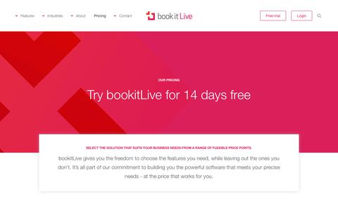 Screenshot of Pricing Page bookitlive.net - Pricing for bookitLive online booking System and Appointment Software - captured Nov. 8, 2018