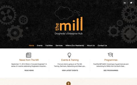 Screenshot of Home Page themilldrogheda.ie - The Mill « Drogheda Enterprise Centre - captured Oct. 7, 2014