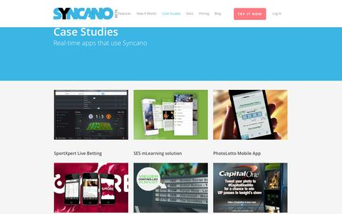 Screenshot of Case Studies Page syncano.com - Case Studies - Syncano - captured Sept. 12, 2014