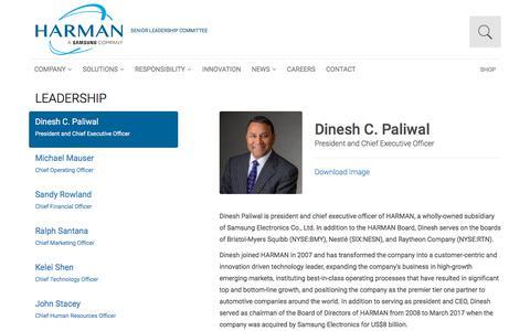 Screenshot of Team Page harman.com - Leadership | Harman - captured Dec. 26, 2019