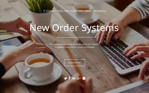 Screenshot of Home Page newordersystems.com - Home - New Order Systems - captured Aug. 13, 2016