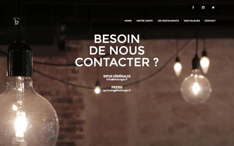 Screenshot of Contact Page bioburger.fr - Bioburger - découvrez nos burgers bio et frites maison ! - captured Sept. 30, 2014