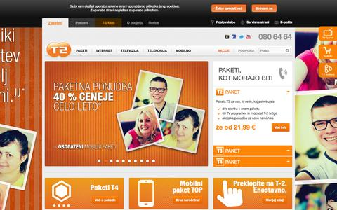 Screenshot of Home Page t-2.net - T-2: Tako, kot mora biti - captured Sept. 24, 2014