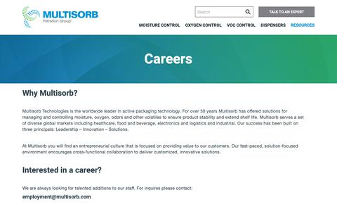 Screenshot of Jobs Page multisorb.com - Careers | Filtration Group - captured Nov. 9, 2018