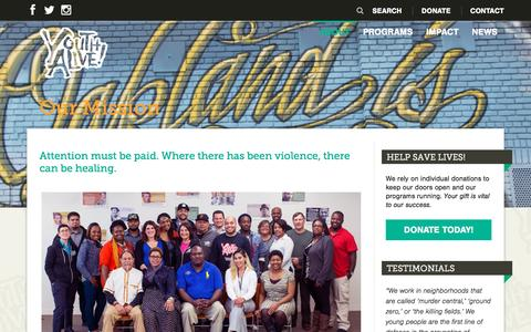 Screenshot of About Page youthalive.org - Our Mission - Youth ALIVE! - captured Dec. 12, 2016