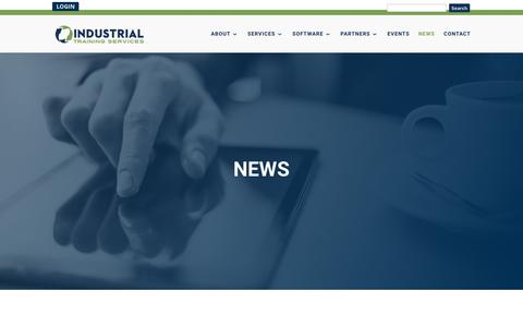 Screenshot of Press Page its-training.com - News | Industrial Training Services - captured May 12, 2018