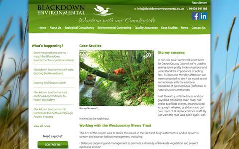 Screenshot of Case Studies Page blackdownenvironmental.co.uk - Case Studies | Blackdown Environmental - captured Sept. 30, 2014