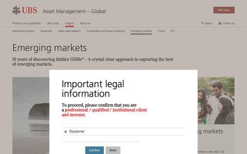 Screenshot of Team Page ubs.com - Emerging markets | UBS Global topics - captured Nov. 14, 2019