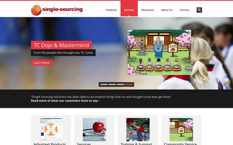 Screenshot of Home Page single-sourcing.com - Single-Sourcing Solutions - Consultant & Certified trainer - captured Feb. 4, 2016