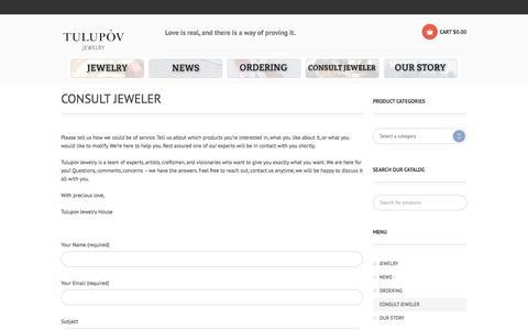 Screenshot of Contact Page tulupov-jewelry.com - Consult Jeweler   Tulupov Jewelry - captured Oct. 29, 2014