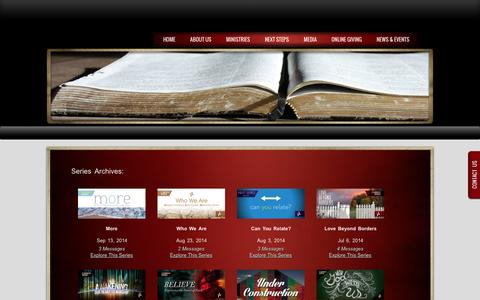 Screenshot of Press Page cccgreeley.org - WATCH ONLINE | Christ Community Church - captured Oct. 1, 2014
