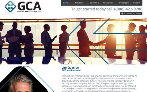 Screenshot of About Page Team Page gca.net - About GCA Technology Services - GCA - captured July 17, 2018