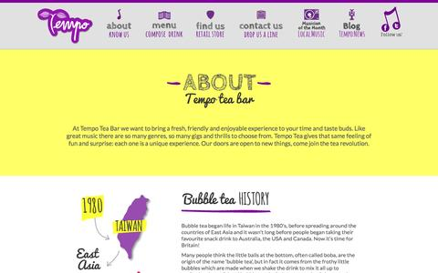 Screenshot of About Page tempoteabar.com - About us | Tempo - captured Sept. 30, 2014