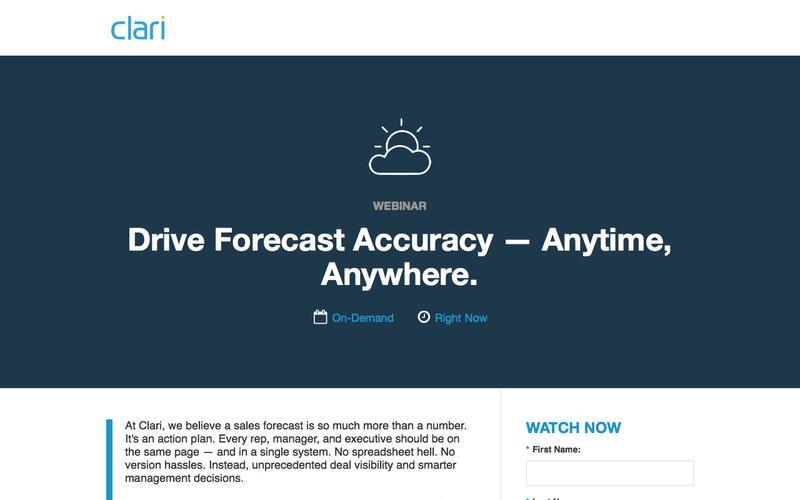 Webinar On-Demand: Drive Forecast Accuracy — Anytime, Anywhere.